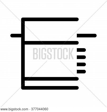Tiled Foundation Icon Vector. Tiled Foundation Sign. Isolated Contour Symbol Illustration