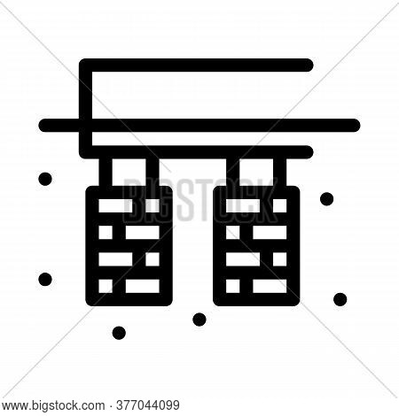 House Foundation Icon Vector. House Foundation Sign. Isolated Contour Symbol Illustration