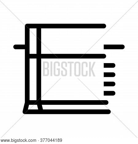 Strip Foundation Icon Vector. Strip Foundation Sign. Isolated Contour Symbol Illustration