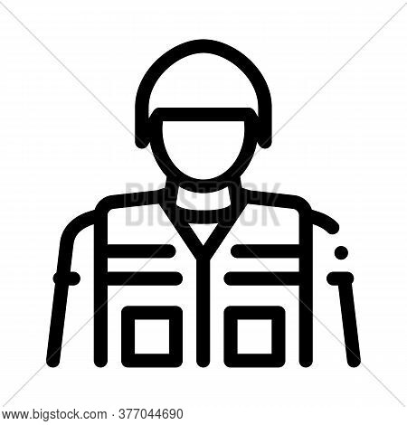 Soldier Profession Icon Vector. Soldier Profession Sign. Isolated Contour Symbol Illustration