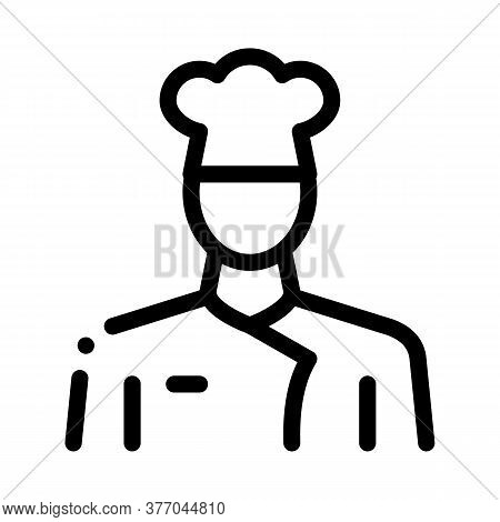 Cook Chief Profession Icon Vector. Cook Chief Profession Sign. Isolated Contour Symbol Illustration