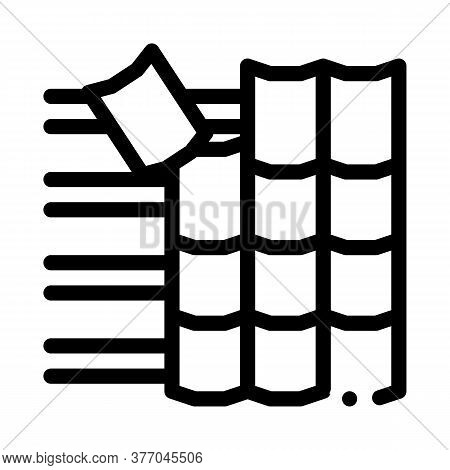 Roof Ceramic Tile Icon Vector. Roof Ceramic Tile Sign. Isolated Contour Symbol Illustration