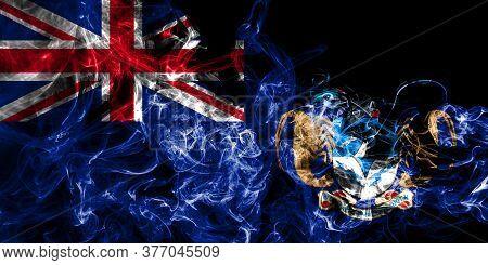 Tristan Da Cunha Smoke Flag, British Overseas Territories, Britain Dependent Territory Flag