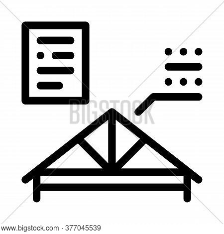 Roof Skeleton Icon Vector. Roof Skeleton Sign. Isolated Contour Symbol Illustration