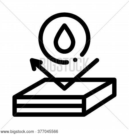 Waterproof Roof Icon Vector. Waterproof Roof Sign. Isolated Contour Symbol Illustration