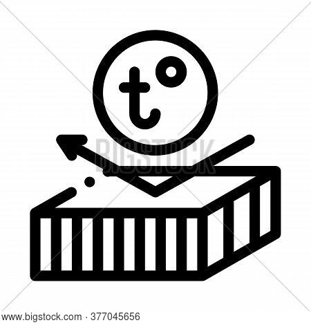 Roof Heat Resistant Layer Icon Vector. Roof Heat Resistant Layer Sign. Isolated Contour Symbol Illus