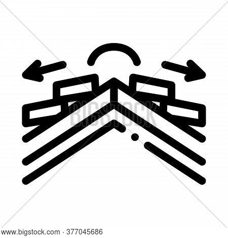 Roof Ceramic Tile Scheme Icon Vector. Roof Ceramic Tile Scheme Sign. Isolated Contour Symbol Illustr
