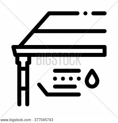 Roof Gutter System Icon Vector. Roof Gutter System Sign. Isolated Contour Symbol Illustration