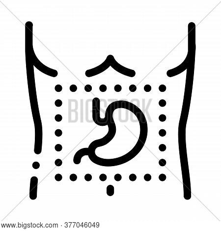 Stomach Surgery Icon Vector. Stomach Surgery Sign. Isolated Contour Symbol Illustration