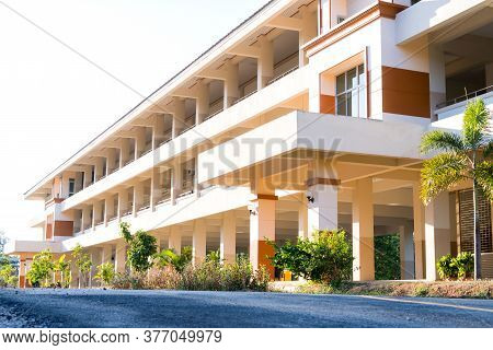 Loei, Thailand-november 16,2019: Education Of Public High School Building. View Of Secondary School