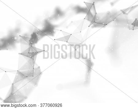 3D render of an abstract connections background. Networking, connecting lines and dots