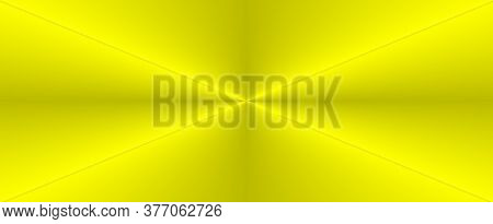 Abstract Yellow Green Background With Soft Bright Gold Center Glowing With Light Colors And Dark Blu