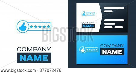 Logotype Consumer Or Customer Product Rating Icon Isolated On White Background. Logo Design Template