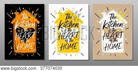 Kitchen Heart Home, Quote Food Poster. Cooking, Culinary, Kitchen, Love, Hearts, House, Master Chef.