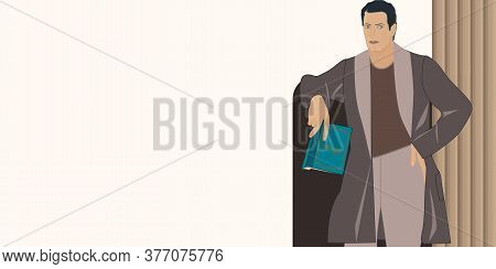 Reader, Modern, Elegant - In Home Clothes - Vector. Hobby. Home Hobby For Reading