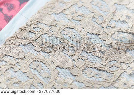 Close Up Of Elegant Apron. Fashion Background
