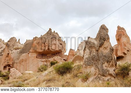 Rock Monastery In Zelve