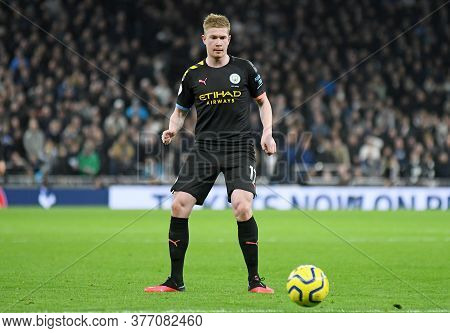 London, England - February 2, 2020: Kevin De Bruyne Of City Pictured During The 2019/20 Premier Leag