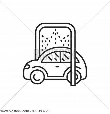 Car Disinfection Black Line Icon. Automatic Car Wash. Pictogram For Web, Mobile App, Promo. Ui Ux De
