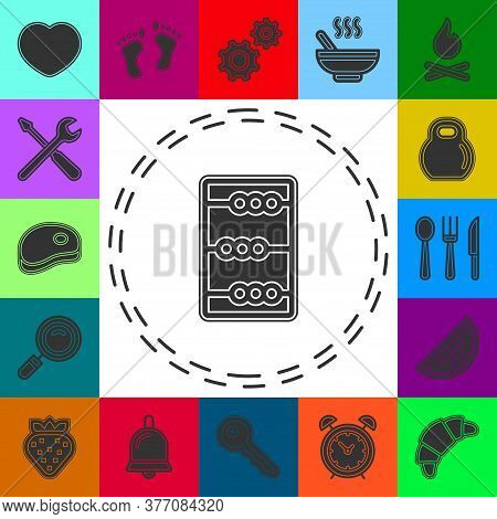 Vector Abacus Illustration. Education Icon, School Math Sign Symbol. Flat Pictogram - Simple Icon