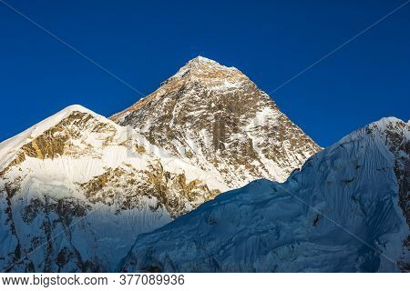 View Of The Everest From Kala Patar Mount. Nepal