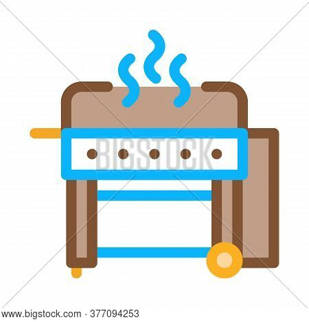 Bbq Professional Equipment Icon Vector. Bbq Professional Equipment Sign. Color Symbol Illustration