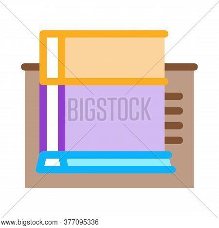 Strip Foundation Icon Vector. Strip Foundation Sign. Color Symbol Illustration