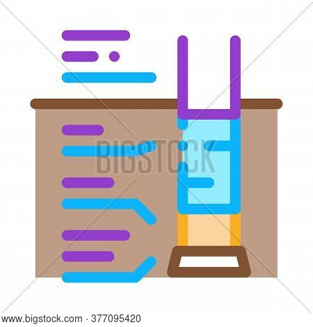 House Foundation Structure Icon Vector. House Foundation Structure Sign. Color Symbol Illustration