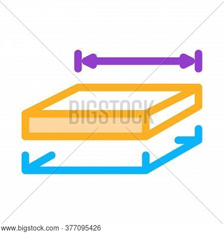 House Foundation Marking Icon Vector. House Foundation Marking Sign. Color Symbol Illustration
