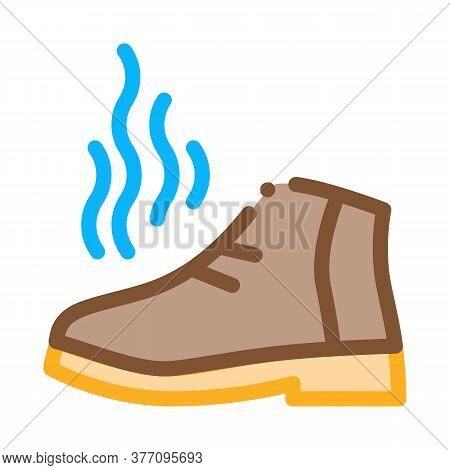 Smell Boot Icon Vector. Smell Boot Sign. Color Symbol Illustration