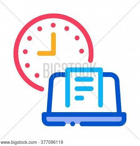 Report Deadline Icon Vector. Report Deadline Sign. Color Symbol Illustration