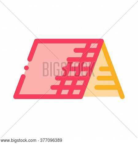 Roof Building Exterior Icon Vector. Roof Building Exterior Sign. Color Symbol Illustration