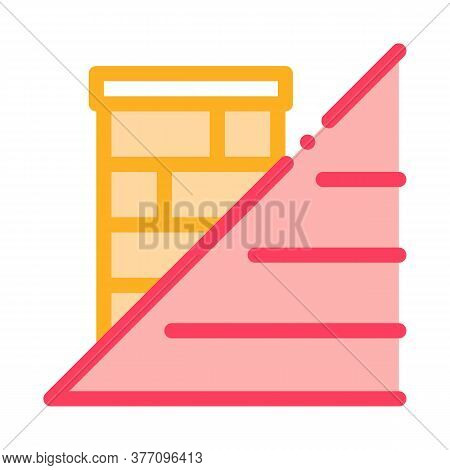 Roof And Chimney Icon Vector. Roof And Chimney Sign. Color Symbol Illustration