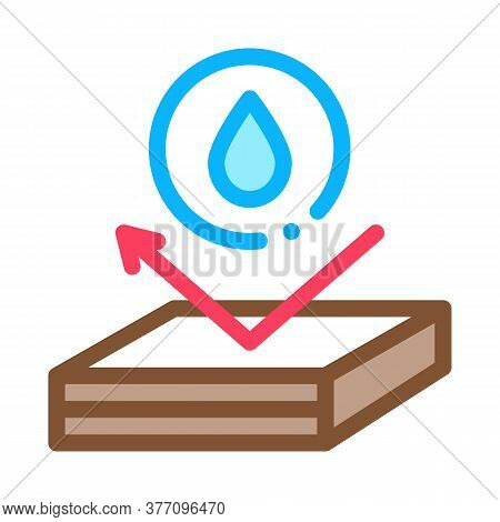 Waterproof Roof Icon Vector. Waterproof Roof Sign. Color Symbol Illustration