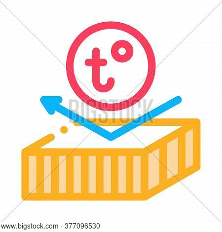 Roof Heat Resistant Layer Icon Vector. Roof Heat Resistant Layer Sign. Color Symbol Illustration