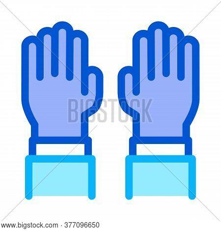 Surgeon Gloves Icon Vector. Surgeon Gloves Sign. Color Symbol Illustration
