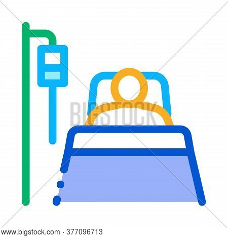 Patient In Resuscitation Icon Vector. Patient In Resuscitation Sign. Color Symbol Illustration