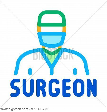 Surgeon Doctor Icon Vector. Surgeon Doctor Sign. Color Symbol Illustration