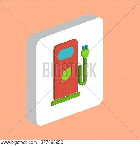 Car Charging Station Simple Vector Icon. Illustration Symbol Design Template For Web Mobile Ui Eleme