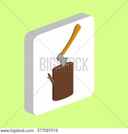 Lumberjack Simple Vector Icon. Illustration Symbol Design Template For Web Mobile Ui Element. Perfec