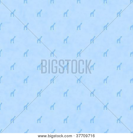 Pale Blue Fabric with giraffes background that is seamless baby background poster