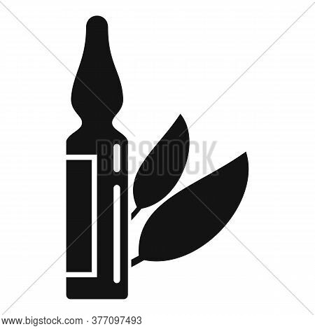 Homeopathy Ampule Icon. Simple Illustration Of Homeopathy Ampule Vector Icon For Web Design Isolated