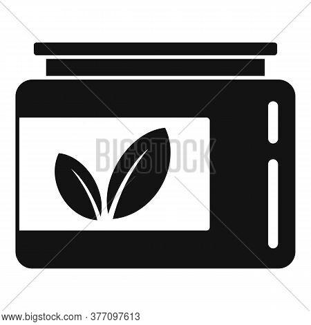Leaf Eco Jar Icon. Simple Illustration Of Leaf Eco Jar Vector Icon For Web Design Isolated On White