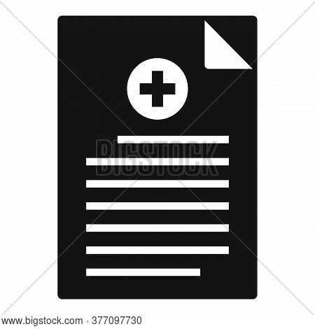 Homeopathy Medical Paper Icon. Simple Illustration Of Homeopathy Medical Paper Vector Icon For Web D