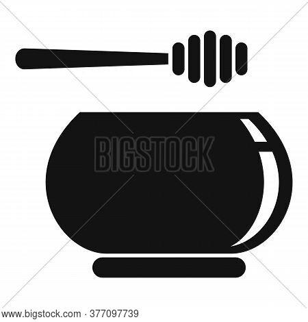 Homeopathy Honey Bowl Icon. Simple Illustration Of Homeopathy Honey Bowl Vector Icon For Web Design