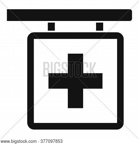 Pharmacy Cross Sign Icon. Simple Illustration Of Pharmacy Cross Sign Vector Icon For Web Design Isol