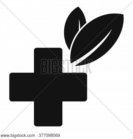 Homeopathy Cross Eco Icon. Simple Illustration Of Homeopathy Cross Eco Vector Icon For Web Design Is