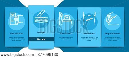 Surgeon Medical Doctor Onboarding Mobile App Page Screen Vector. Surgeon Facial Mask And Glasses, Sc