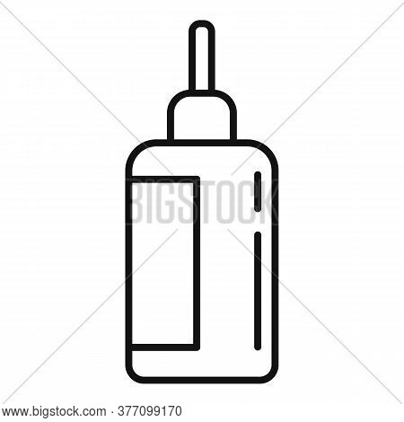 Homeopathy Dropper Bottle Icon. Outline Homeopathy Dropper Bottle Vector Icon For Web Design Isolate