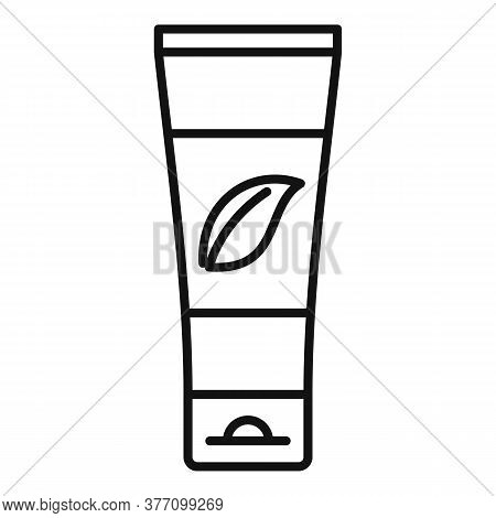 Homeopathic Cream Tube Icon. Outline Homeopathic Cream Tube Vector Icon For Web Design Isolated On W